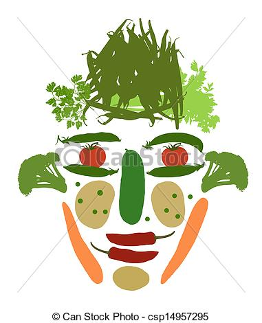 Vegetables clipart human Vegetables Stock vegetables face male