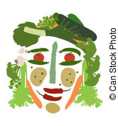 Vegetables clipart human Isolated   Art made
