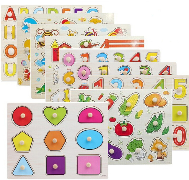 Vegetable clipart letter Plate Color Insect 3D Puzzle