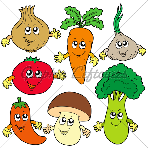 Vegetable clipart letter Cute clipart Vegetables Clipground faces