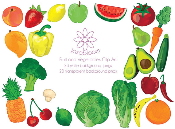 Vegetables clipart lot Download Fruit Scrapbooking Digital Scrapbooking