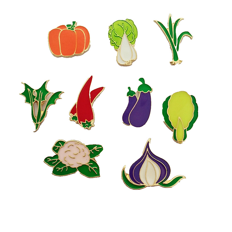 Vegetables clipart lot  epoxy enamel accessories 10pcs