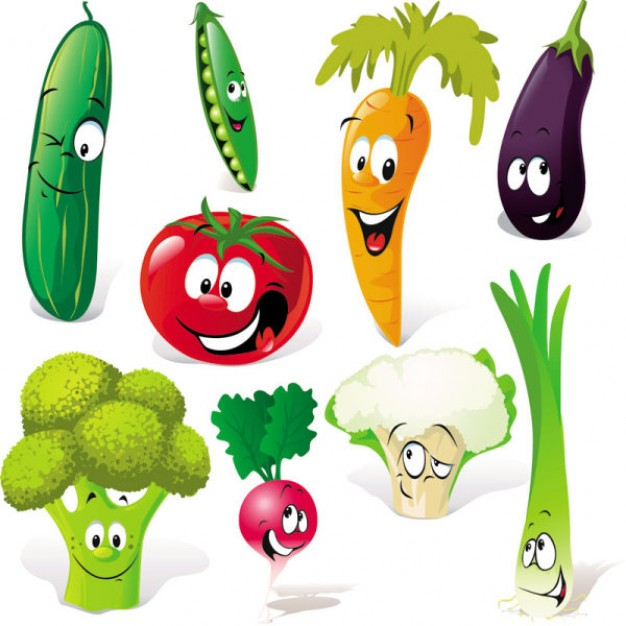 Vegetable clipart sayur Cartoon Vegetables Chadholtz Art Free