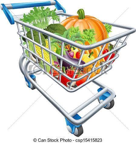 Vegetables clipart shopping basket Vegetable Vegetable Shopping Cart Illustration