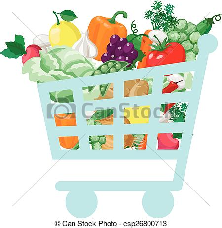Vegetables clipart shopping basket Cart Vector Vegetable with with