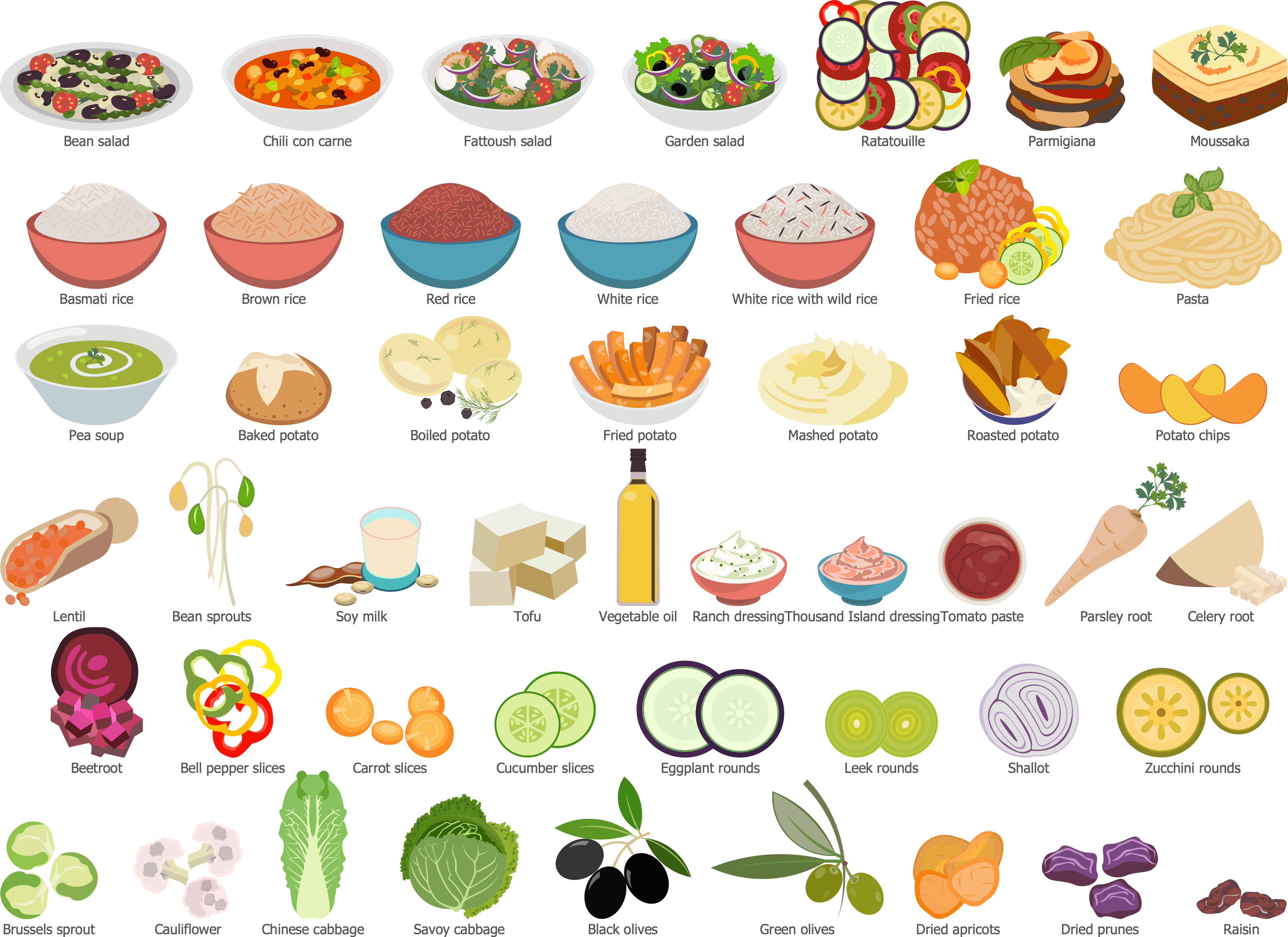 Vegetables clipart side dish IMGFLASH 71451 Art Clip Art