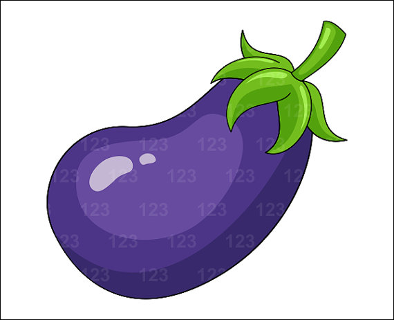 Watermelon clipart single vegetable Eggplant Art $1 Clip 123ClipArt