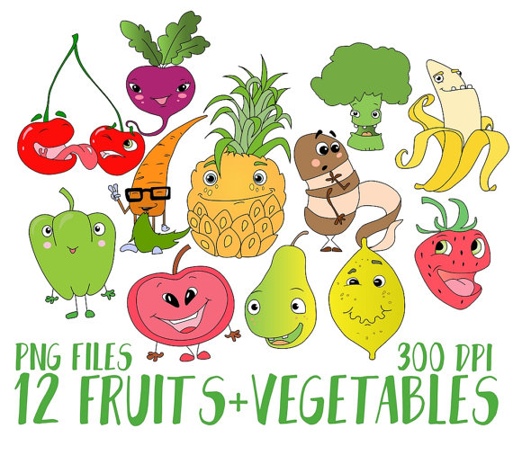 Fruits & Vegetables clipart summer food Is file fruits clipart Vegetables