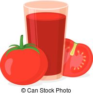 Vegetable clipart tomato juice Of tomato Glass Clipart of