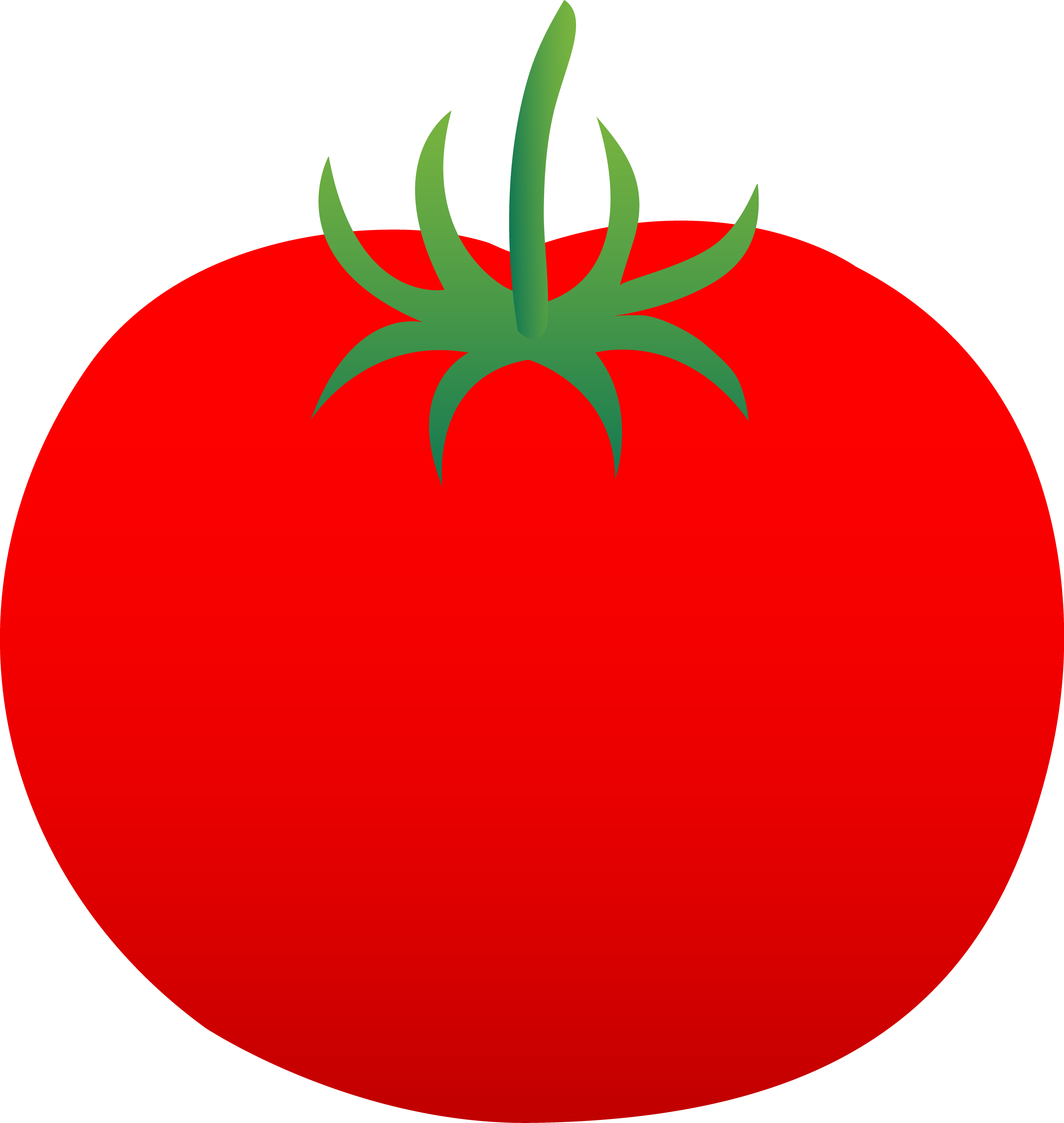 Red clipart tomato #5