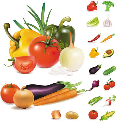Vegetable clipart vector Free clipart vegetable vegetables clipart