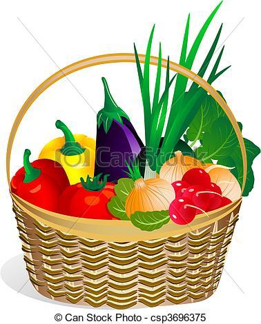 Fruits & Vegetables clipart basket drawing Fruits And Free  Basket