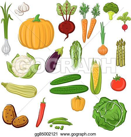 Vegetable clipart vegetable farm Art design vegetables Farm Vector