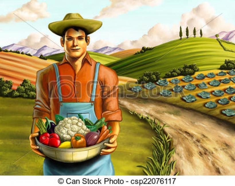 Vegetable clipart vegetable farm Farming of farming of holding