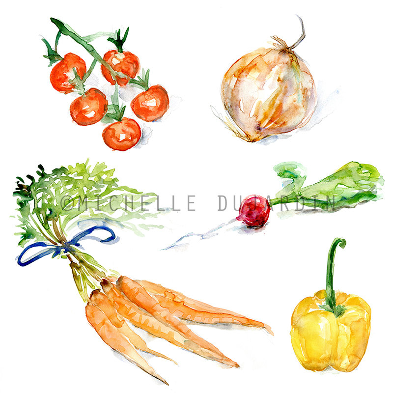 Carrot clipart watercolor Like watercolor this Print Veggie