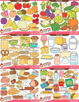 Grain clipart healthy meal Images Bundle Food } Clipart