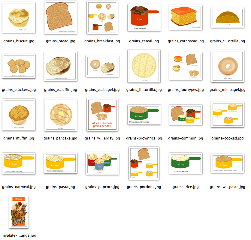 Grains clipart food group MyPlate 50 24 $ Food
