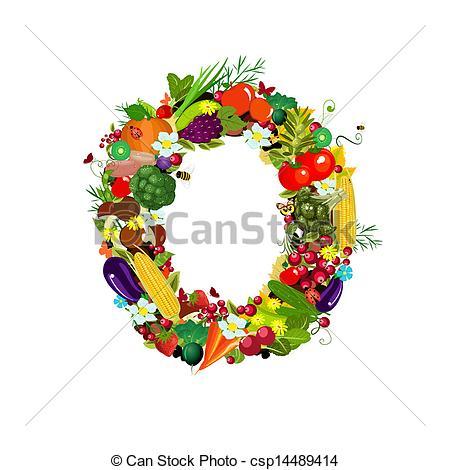 Vegetable clipart letter Fruits Clip vegetables O
