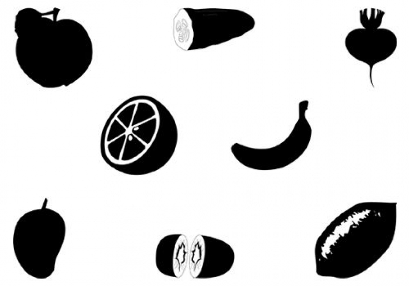 Shadow clipart fruit #1