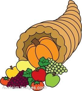 Cornucopia clipart animated Cornucopia Clip Dinner Clipart Clipart