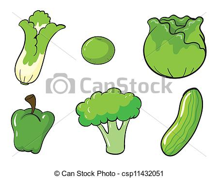 Vegetable clipart vector Vegetables illustration Vector green of