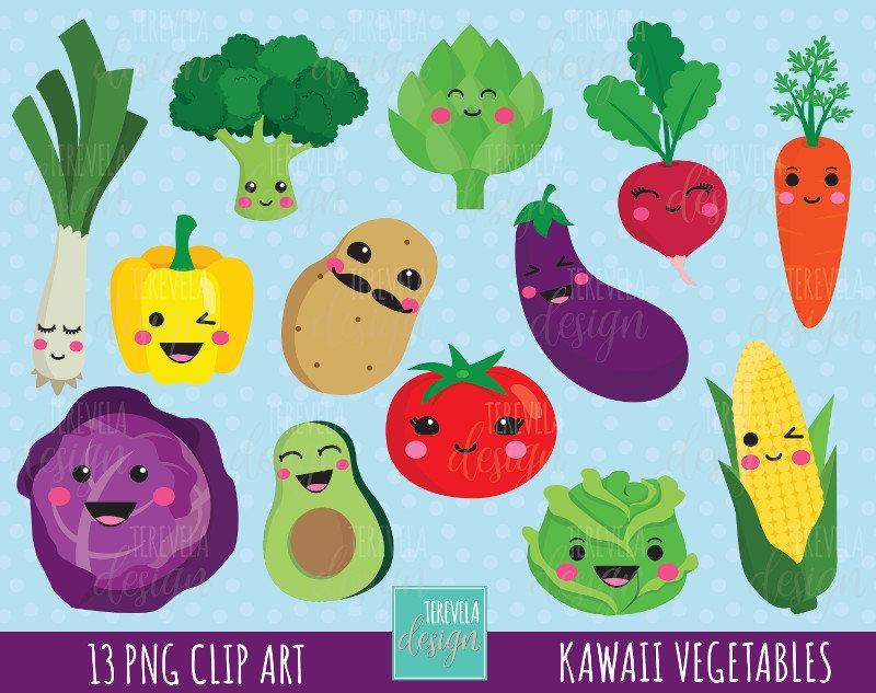 Broccoli clipart kawaii  is VEGETABLES a kawaii
