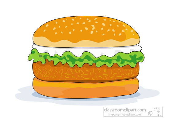 Veggie Burger clipart Big Graphics Food Fast Pictures