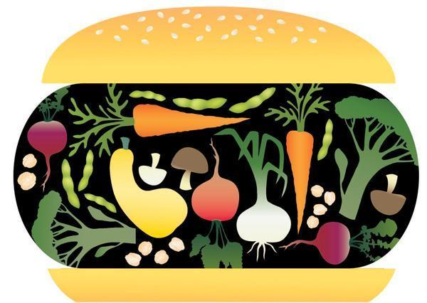 Veggie Burger clipart Mooove – BIG! jpg over