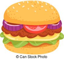 Veggie Burger clipart  juicy burger or vegetable