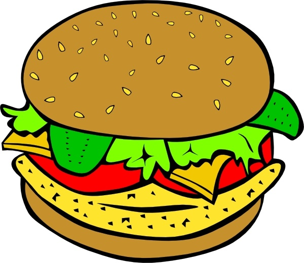 Veggie Burger clipart Clip drawing Burger Open in