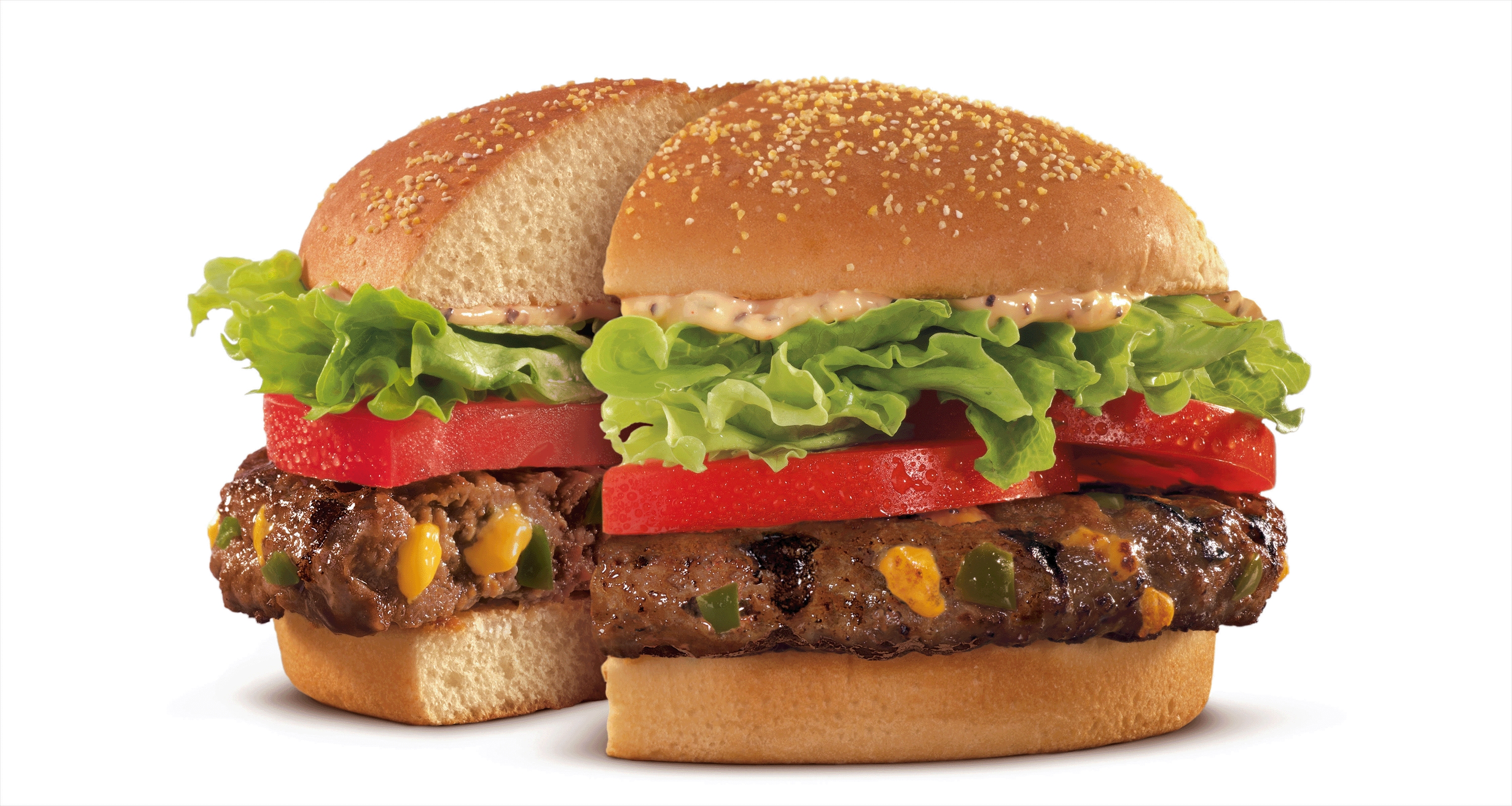 Veggie Burger clipart burger king Up STUFFED with from Inside