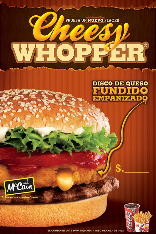 Veggie Burger clipart design banner On Poster Whopper 14 King