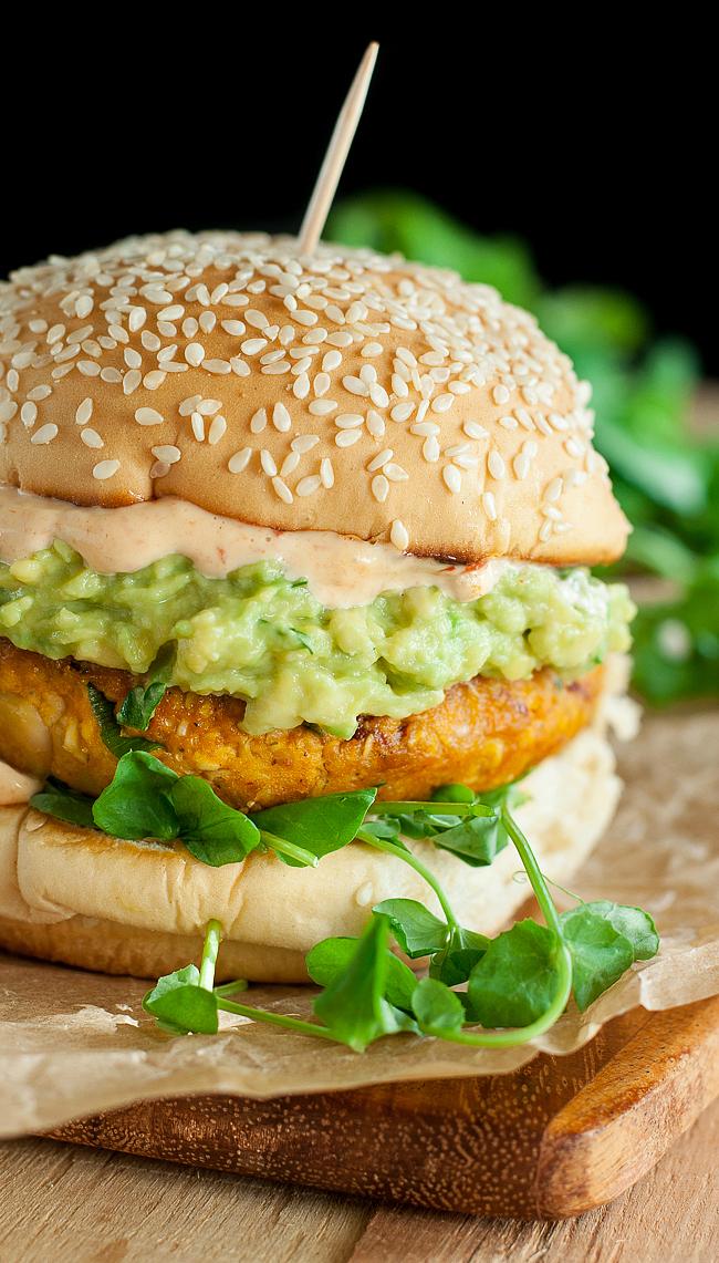 Veggie Burger clipart fish n chip Healthy Chipotle Veggie Pumpkin Burgers