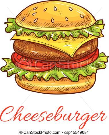 Veggie Burger clipart graphic Food  burger icon of