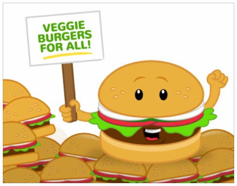 Veggie Burger clipart healthy Lunch—check vegan  your a