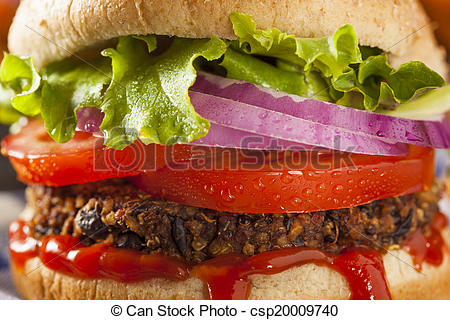 Veggie Burger clipart healthy Stock Healthy Vegetarian with Healthy