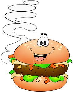 Veggie Burger clipart school food Яндекс Pinterest Decoupage ClipartSchool para