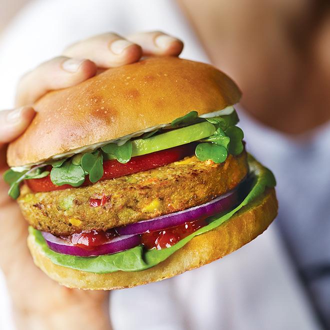 Veggie Burger clipart school food Sensible Dr Purely Home Veggie