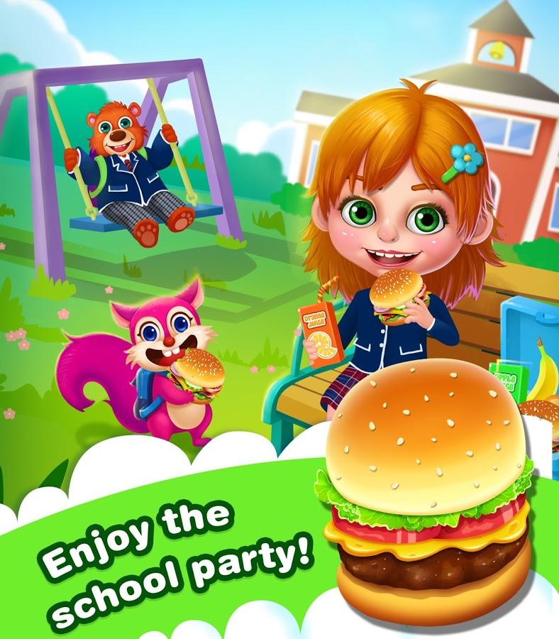 Veggie Burger clipart school food App Annie Box and Maker: