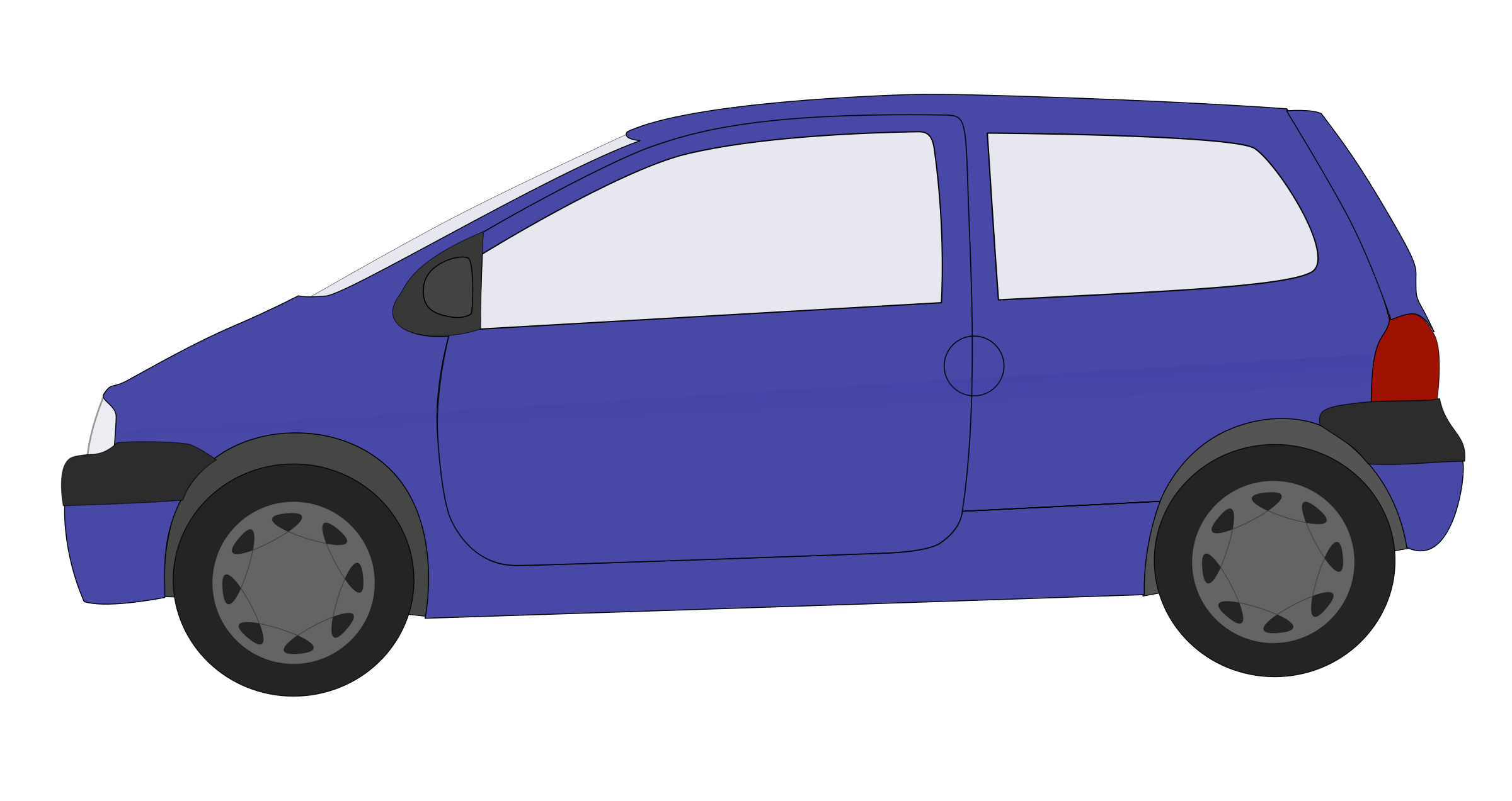 Blue Car clipart side view png  Download Animated Free Car