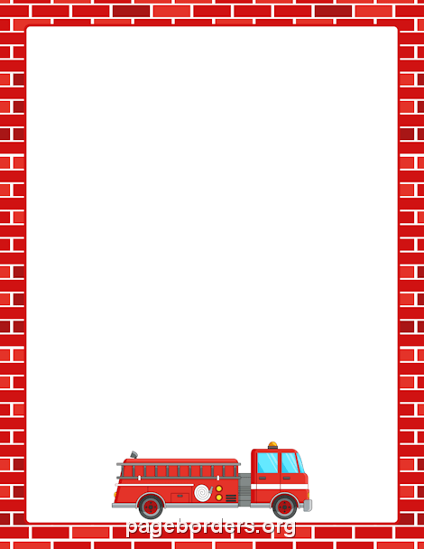 Vehicle clipart border Page Border Borders Fire Free