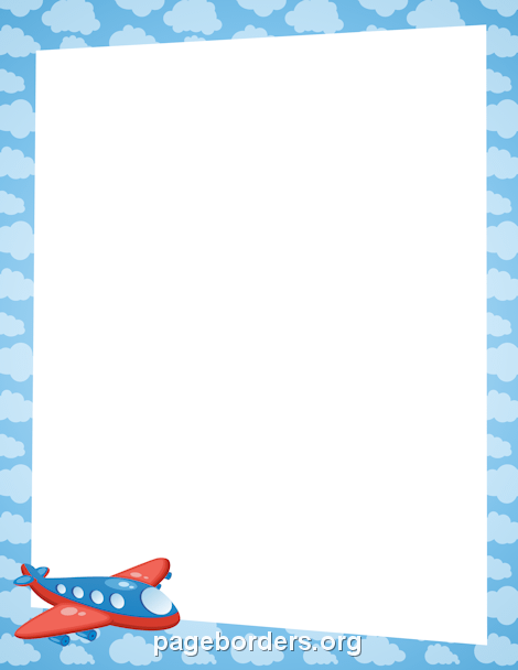 Vehicle clipart border Borders Free and Airplane Vehicle