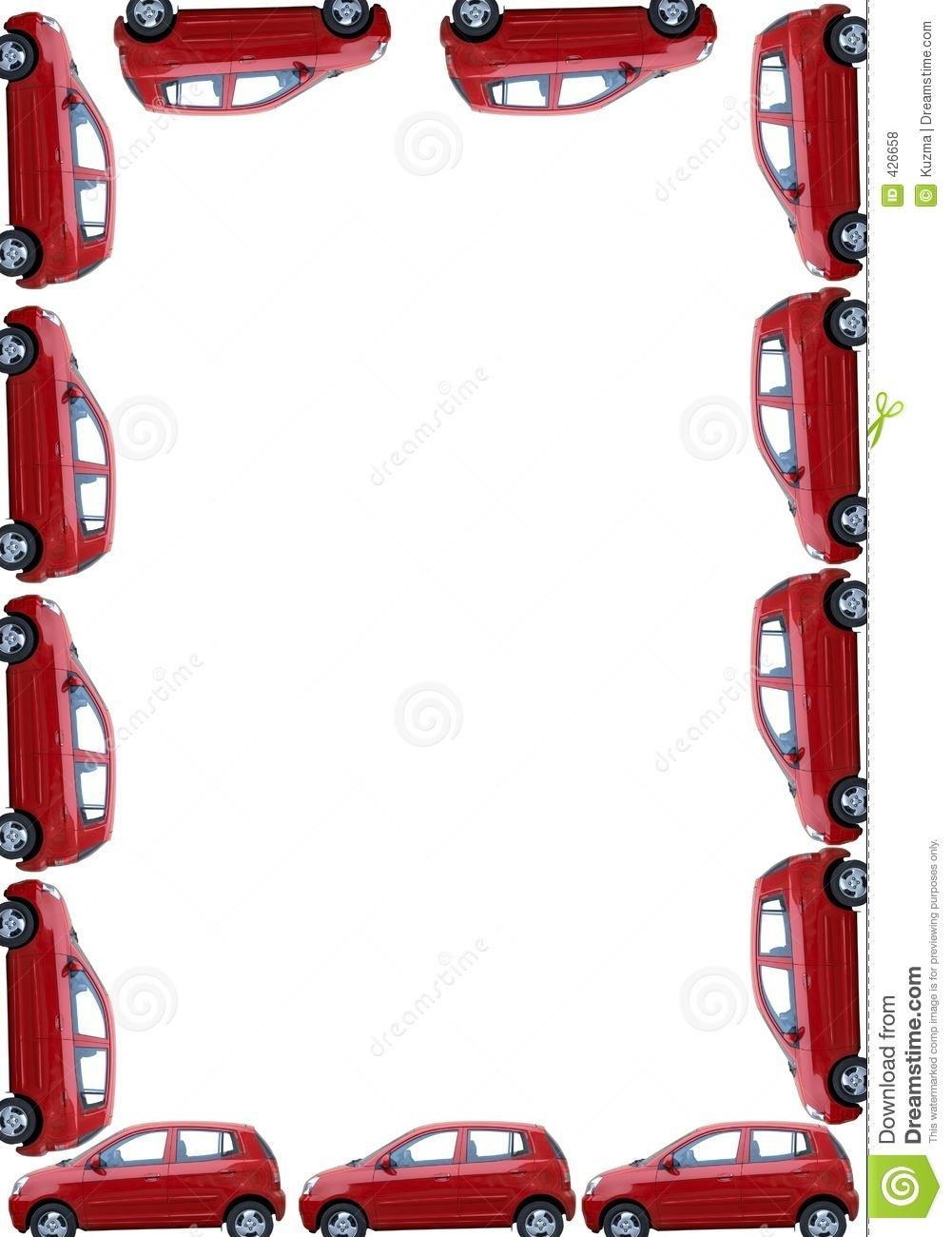 Vehicle clipart border Image: White Isolated 426658 Border