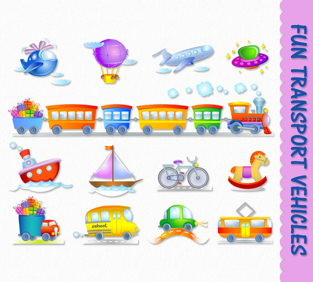 Bicycle clipart toy boat Truck Digital Boat Transportation Fun