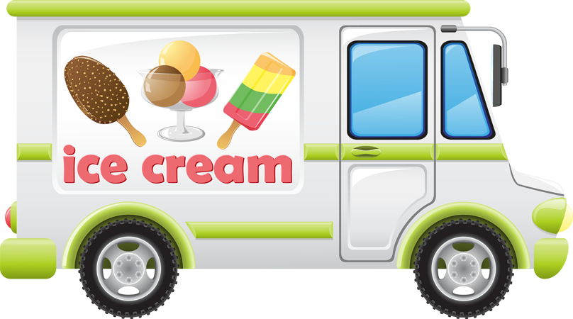 Vehicle clipart children's Book ice cream used truck