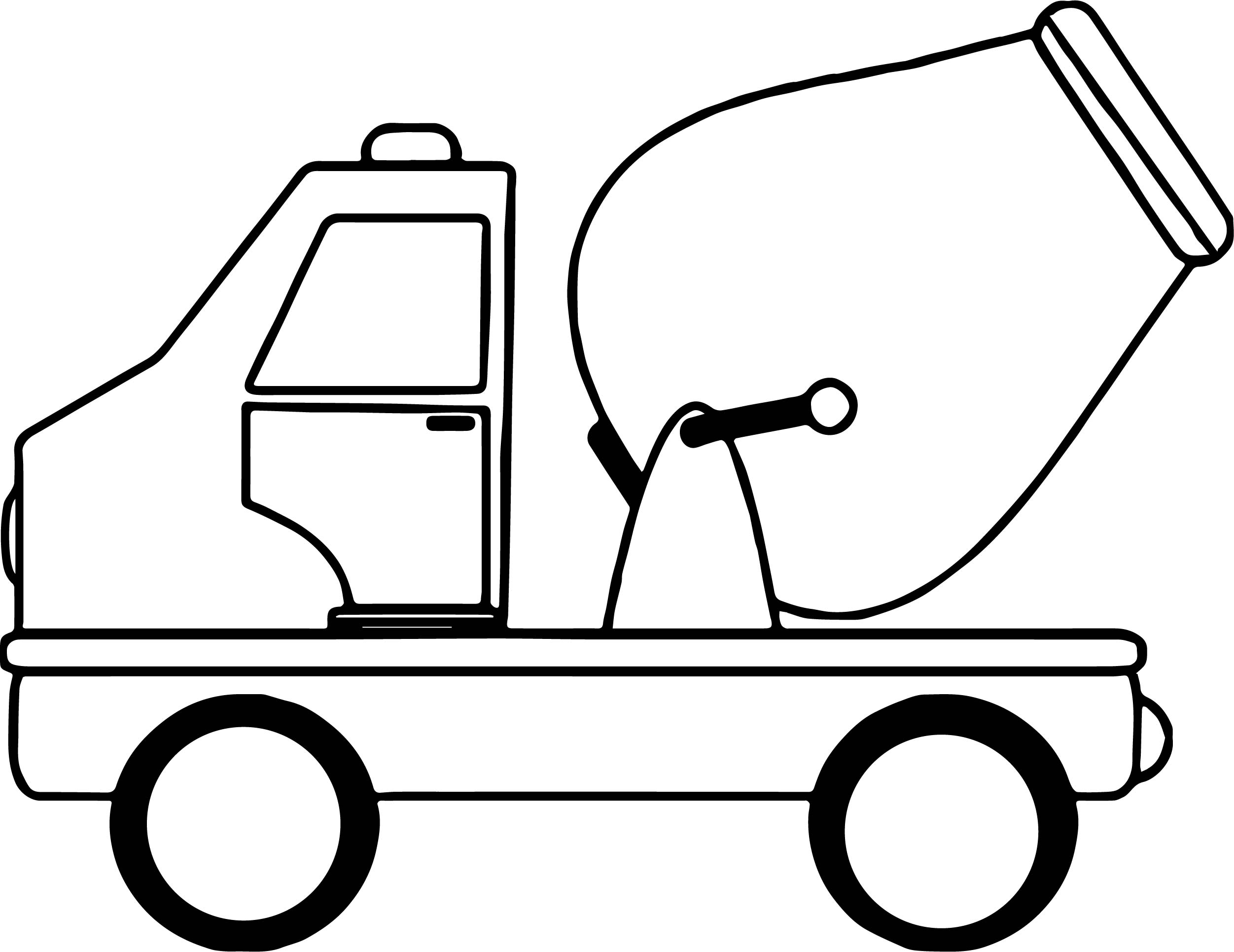 Vehicle clipart coloring Wecoloringpage Toy Page Cement Toy
