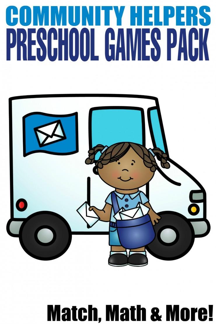 Vehicle clipart community helper Pack Mom Preschool Community Pack