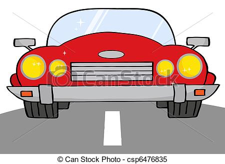 Drawn roadway cartoon Red Clipart A Vector