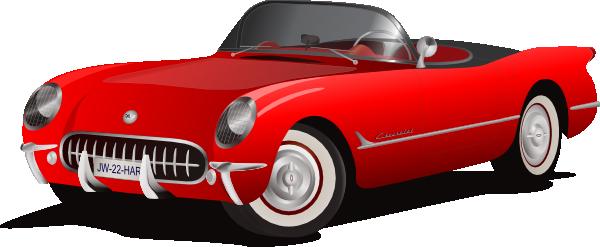 Chevrolet clipart corvette Red at clip Convertible Clker