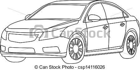 Vehicle clipart mode transport Outline car outline the outline